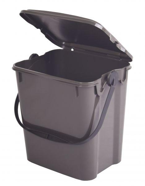 Komposteimer (Bio Mülleimer) für Biomüll in der Küche (10 l) braun