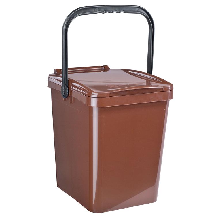 komposteimer bio m lleimer f r biom ll in der gro k che 25l braun schlosser gmbh. Black Bedroom Furniture Sets. Home Design Ideas
