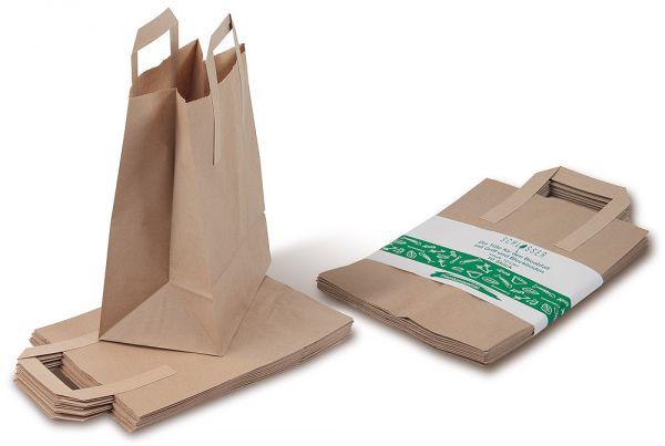 Bio-Müllbeutel (10 l) mit Standboden und Henkel, 10er Pack