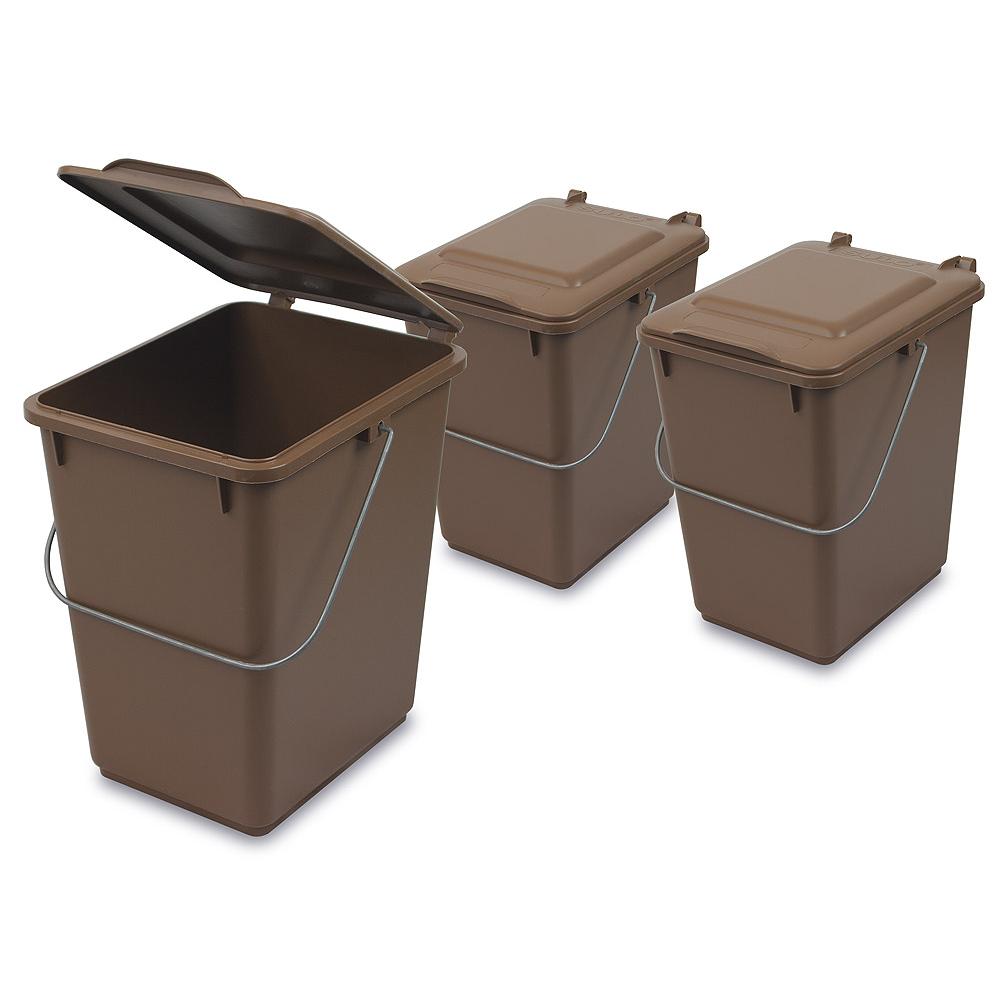 komposteimer bio m lleimer f r biom ll in der k che 10l braun schlosser gmbh. Black Bedroom Furniture Sets. Home Design Ideas