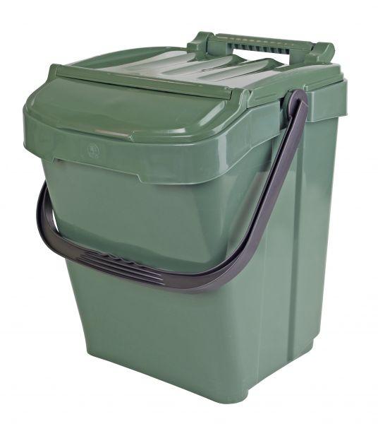 Komposteimer (Bio Mülleimer) für Biomüll (40 l) grün