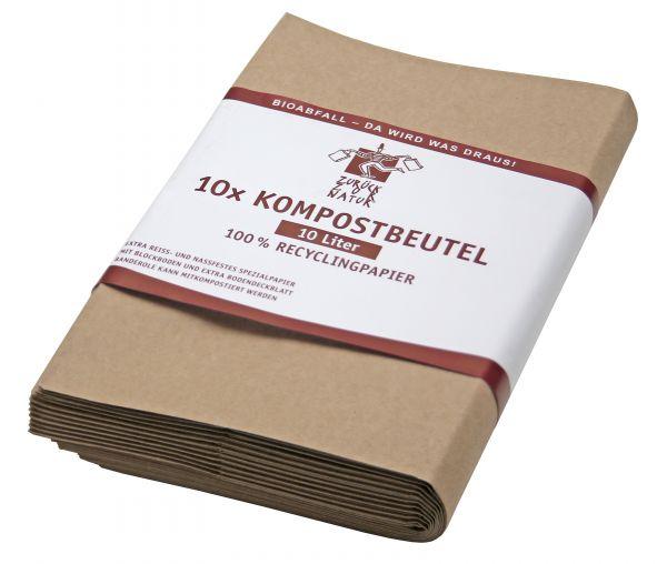 Bio-Müllbeutel (10 l) mit Standboden, 10er-Pack