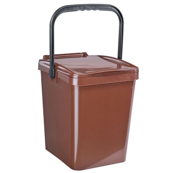 Komposteimer (Bio Mülleimer) für Biomüll in der Großküche (25l) braun