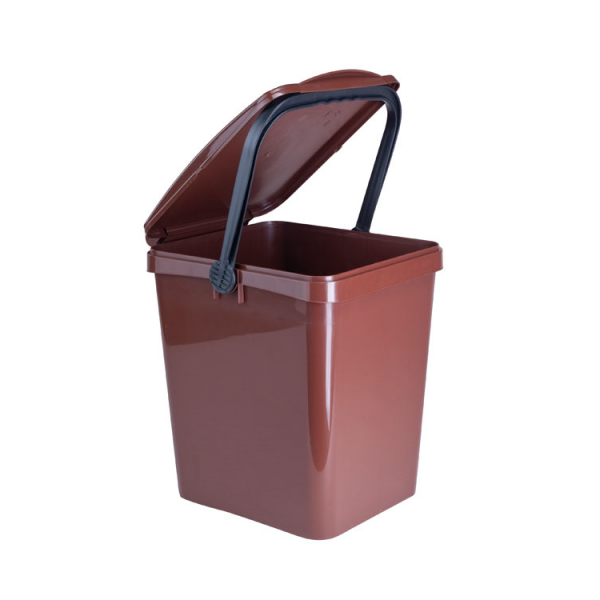 komposteimer bio m lleimer f r biom ll in der gro k che 20l braun schlosser gmbh. Black Bedroom Furniture Sets. Home Design Ideas