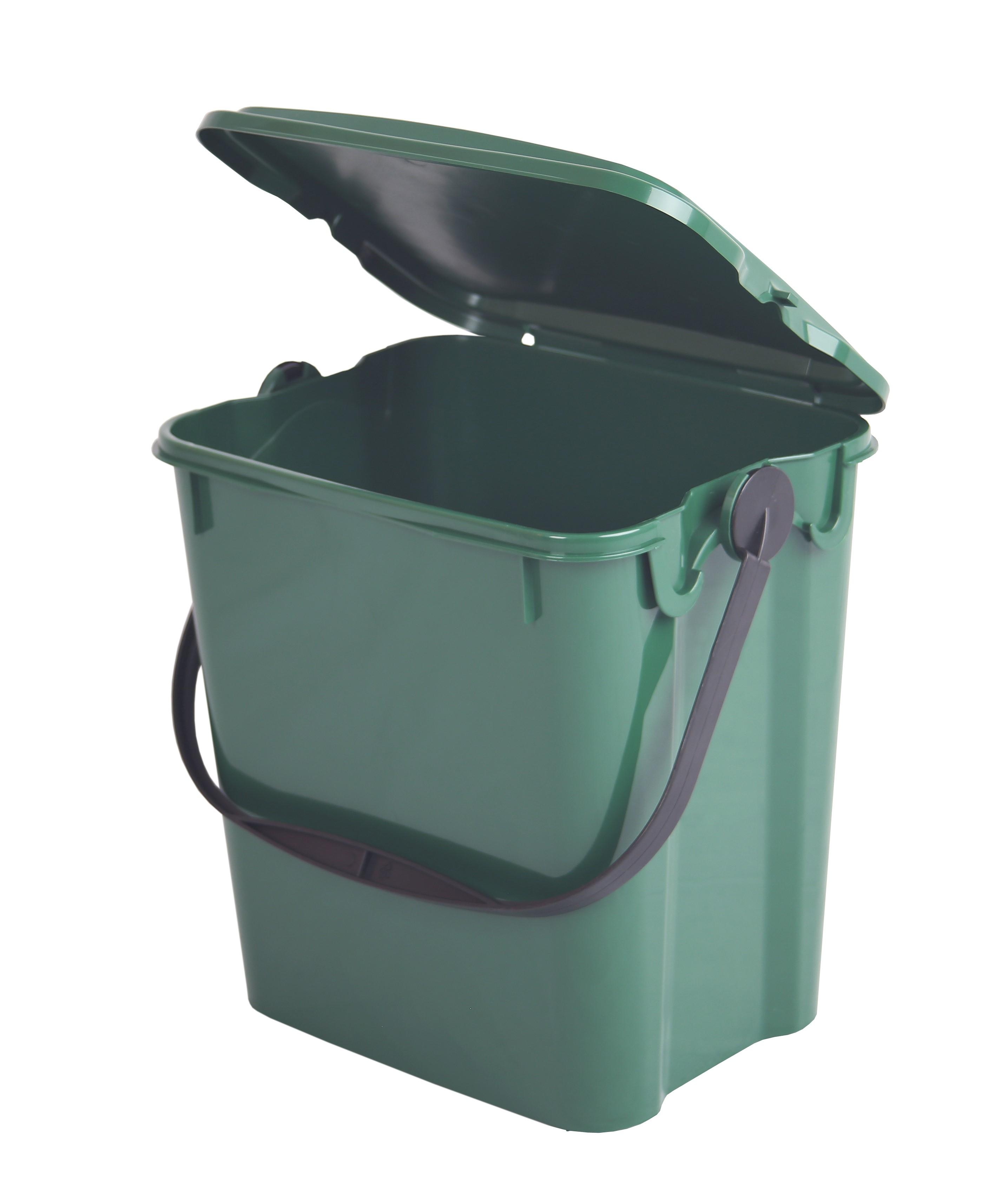 Komposteimer (Bio Mülleimer) für Biomüll in der Küche (19 l) grün